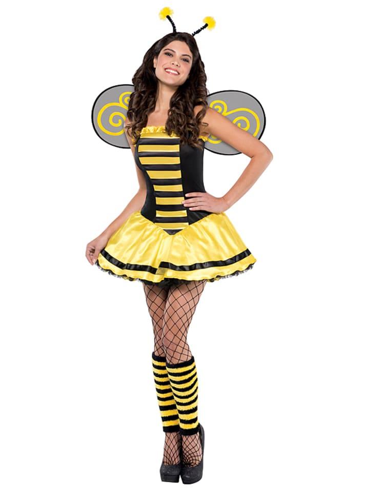 Amscan 3tlg. Kostüm Bumble Beauty in Gelb - 64%   Größe S   Faschingskostueme