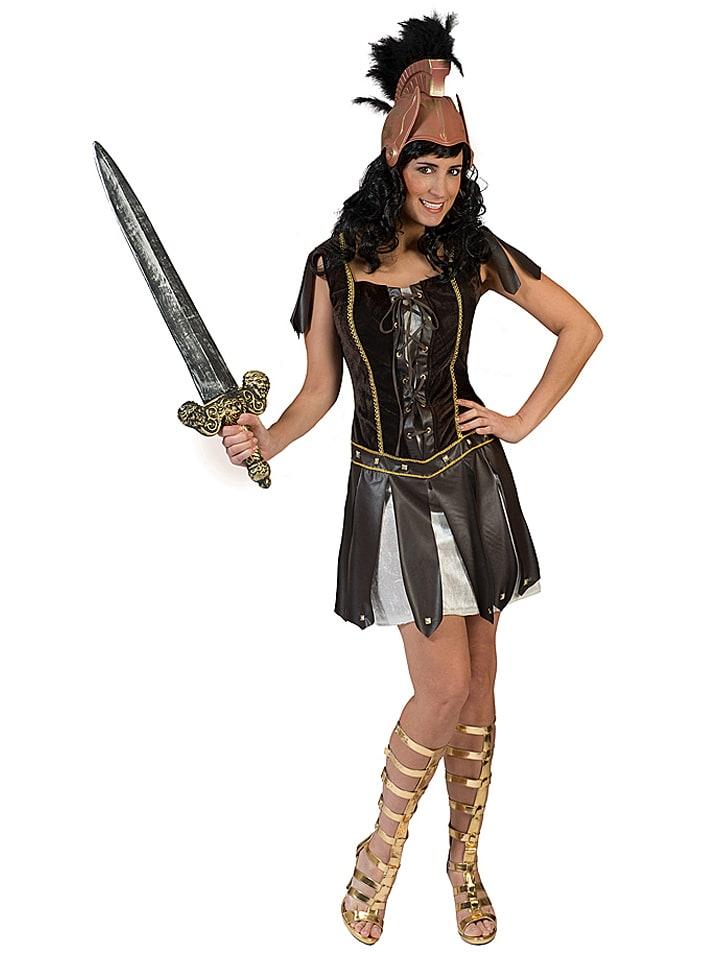Funny Fashion Kostümkleid Warrior Crixia in Braun - 48%   Größe 44/46   Faschingskostueme