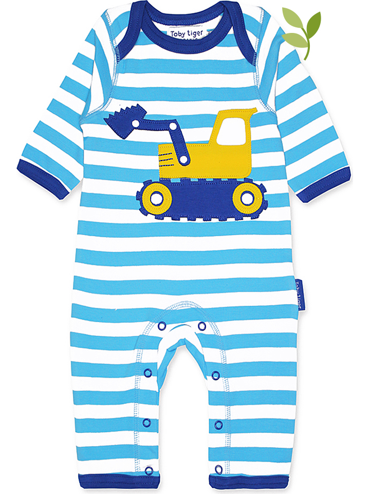 Toby Tiger Overall in Hellblau -34% | Größe 80 Overalls Sale Angebote Welzow