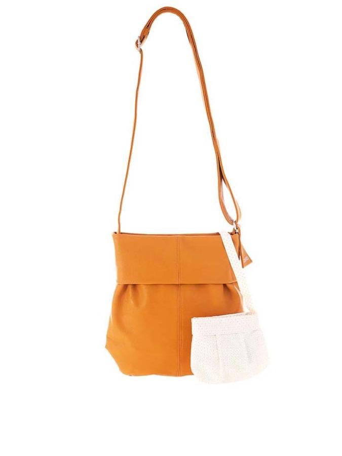 Zwei Umhängetasche ´´Mademoiselle M10´´ in orange - (B)25 x (H)30 (T)8 cm -55% | Umhängetaschen Sale Angebote Terpe