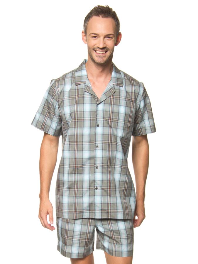 Jockey Pyjama in Khaki/ Hellblau -70% | Größe 48 Pyjamas Sale Angebote Horka