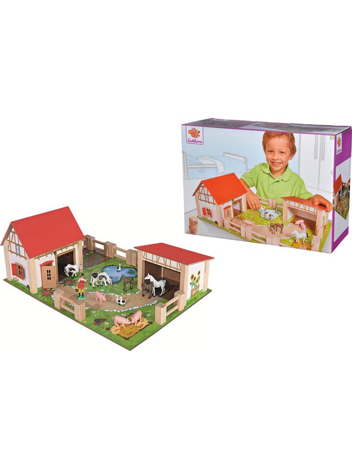 Eichhorn Bauernhof mit Zubehör - ab 3 Jahren -33%   Holzspielzeug