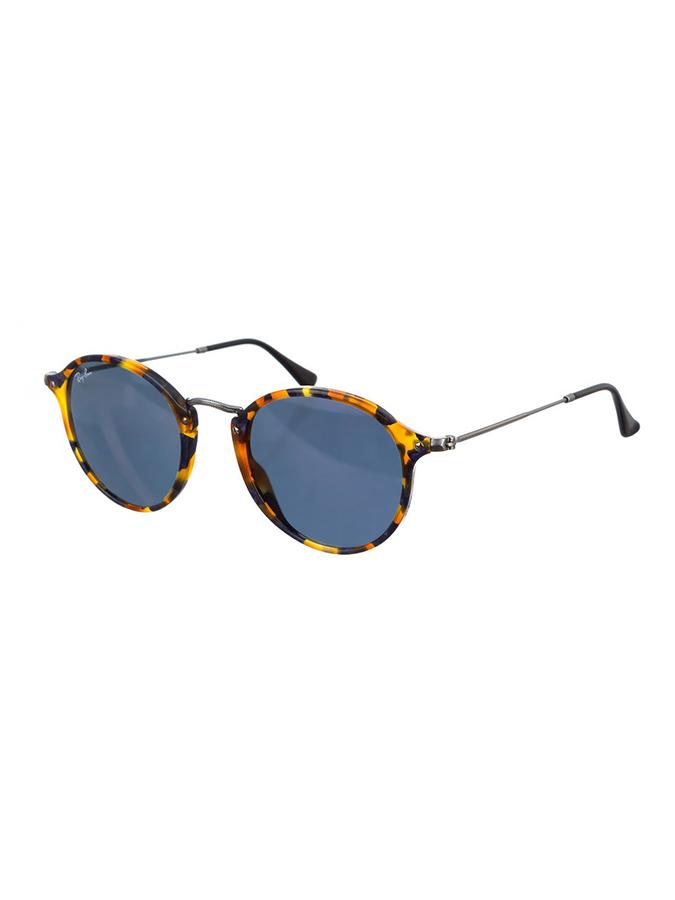 Ray Ban Damen-Sonnenbrille ´´Round Fleck´´ in Havana Blau -41 Größe 49 Sonnenbrillen