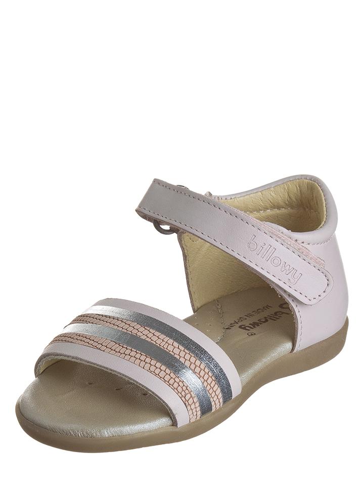 Billowy Leder-Sandalen in Creme -49% | Größe 22 Sandalen