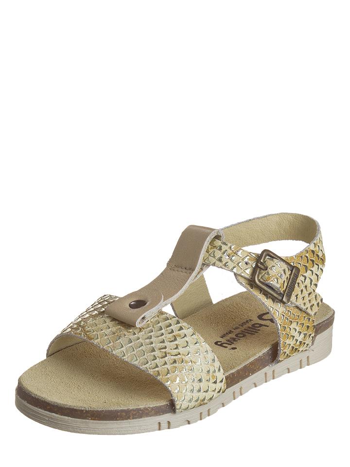 Billowy Leder-Sandalen in beige -67%   Größe 35 Sandalen