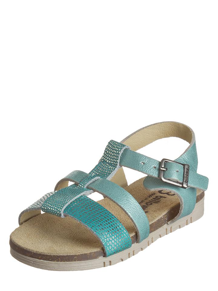 Billowy Leder-Sandalen in Türkis - 71% | Größe 25 Kindersandalen jetztbilligerkaufen