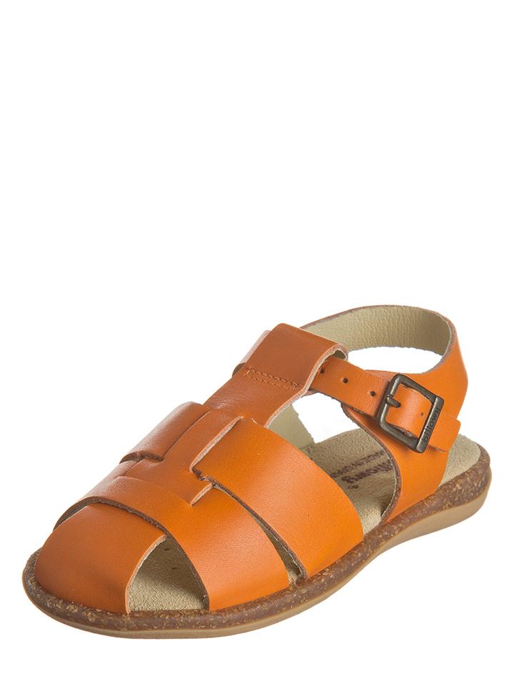 Billowy Leder-Halbsandalen in orange -73% | Größe 31 Sandalen