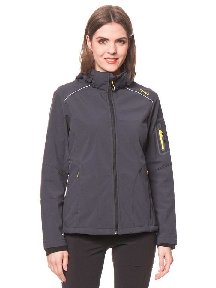 CMP Softshelljacke in Blaugrau -44% | Größe 34 Softshell Jacken Sale Angebote Tettau