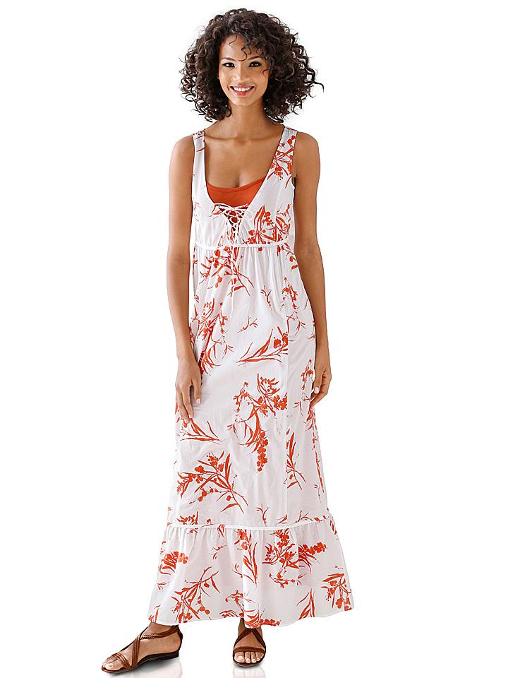 Linea TESINI Kleid in weiß -61%   Größe 38   Lange Kleider