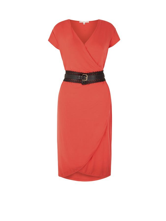 Uttam Boutique Kleid in Koralle -58%   Größe 42 Kurze Kleider Sale Angebote Hohenbocka