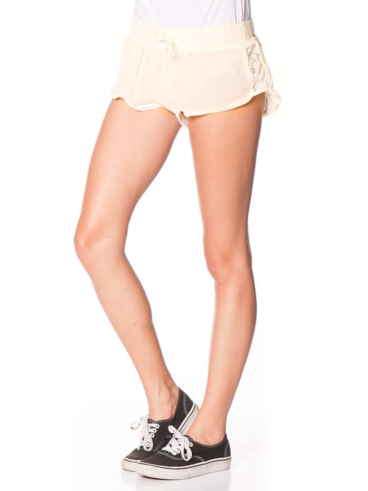 Roxy Shorts ´´Soft Crochet´´ in Creme - 65% | Größe L Damenhosen