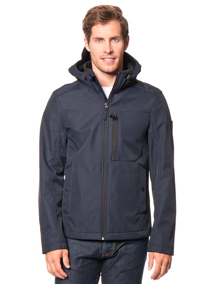Tom Tailor Softshelljacke in Dunkelblau -43% | Größe XXL | Softshell Jacken