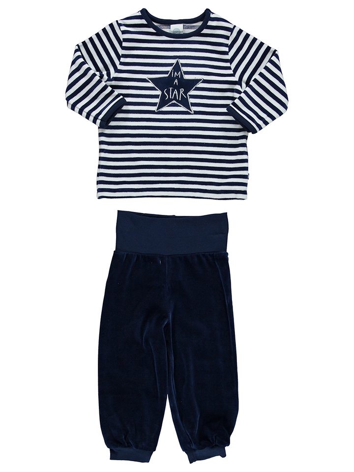 Sanetta Pyjama in dunkelblau -53 Größe 74 Pyjamas