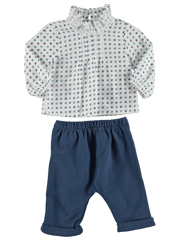 Cotton&Sugar 2tlg. Outfit in Weiß - 71%   Größe 86 Baby blusen