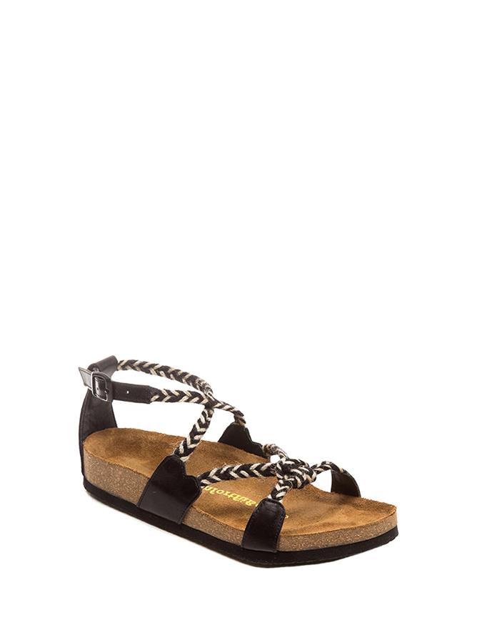 Comfortfusse Leder-Sandalen in schwarz -57% | Größe 37 | Sandaletten