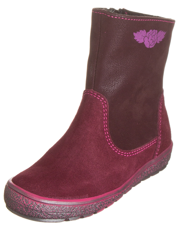 Lelli Kelly Leder-Boots in Bordeaux - 58% | Größe 35 Kinderboots