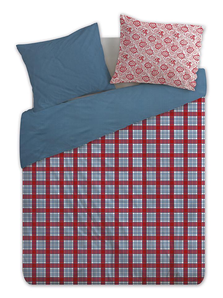 At Home Perkal-Bettwäsche-Set ´´At Home´´ in rot -38% | Größe 135x200 cm Bettwäsche Sale Angebote