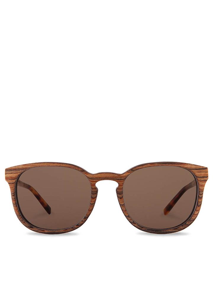 Kerbholz Unisex-Sonnenbrille ´´Alfons´´ in Braun - 62% | Damen sonnenbrillen - broschei