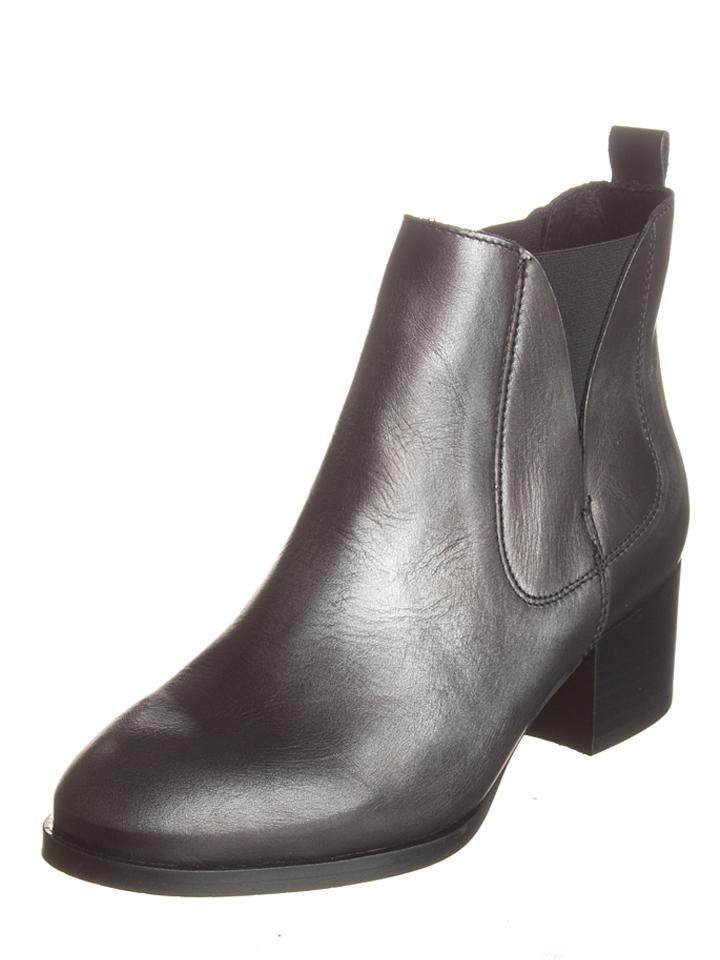 Lazamani Leder-Chelsea-Boots in Anthrazit - 59% | Größe 37 Stiefeletten