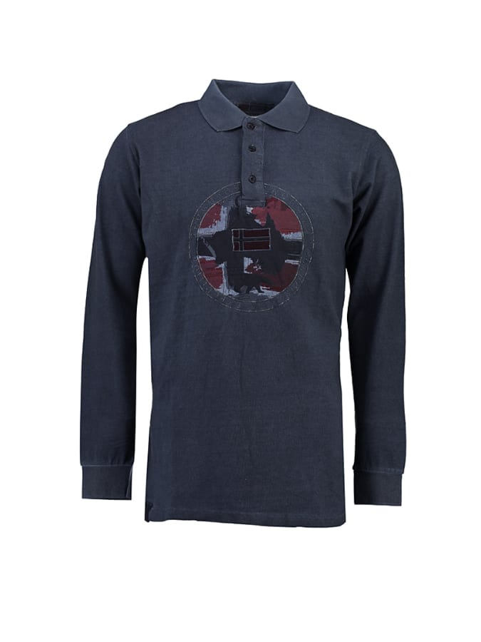 Geographical Norway Poloshirt ´´Kexpedition´´ in Dunkelblau -63% | Größe M Langarm Poloshirts Sale Angebote Bagenz