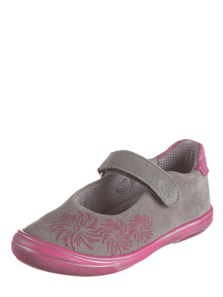 Richter Shoes Leder-Ballerinas in grau -42%   Größe 35 Ballerinas