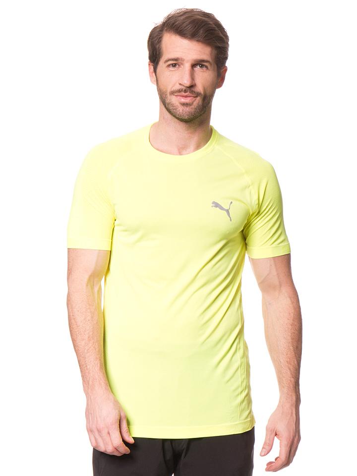 Puma Funktionsshirt ´´Heather´´ in Neongelb -56% | Größe XXL T-Shirts Sale Angebote Wiesengrund
