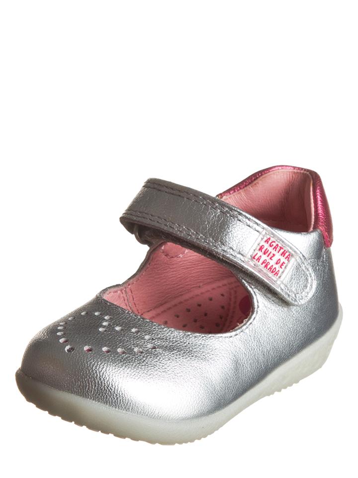 Agatha Ruiz de la Prada Leder-Ballerinas in Silber - 65% | Größe 18 Babysneakers