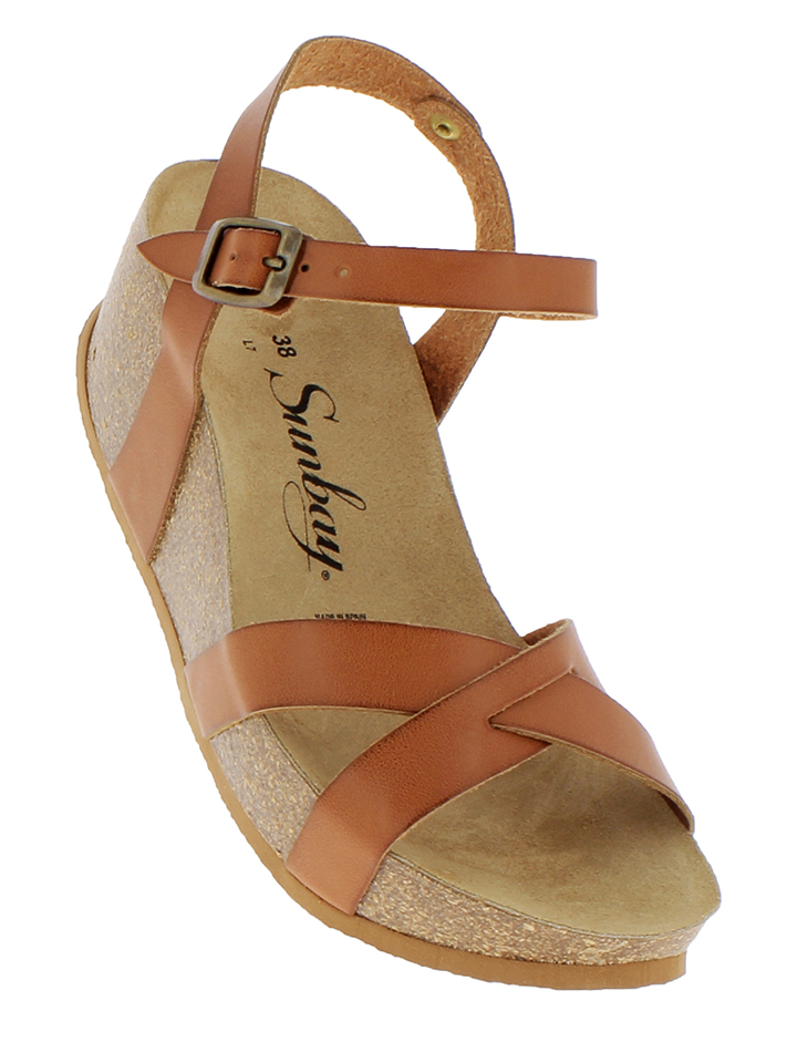 Sunbay Leder-Sandaletten in Camel - 71 Größe 36 Damen sandalen