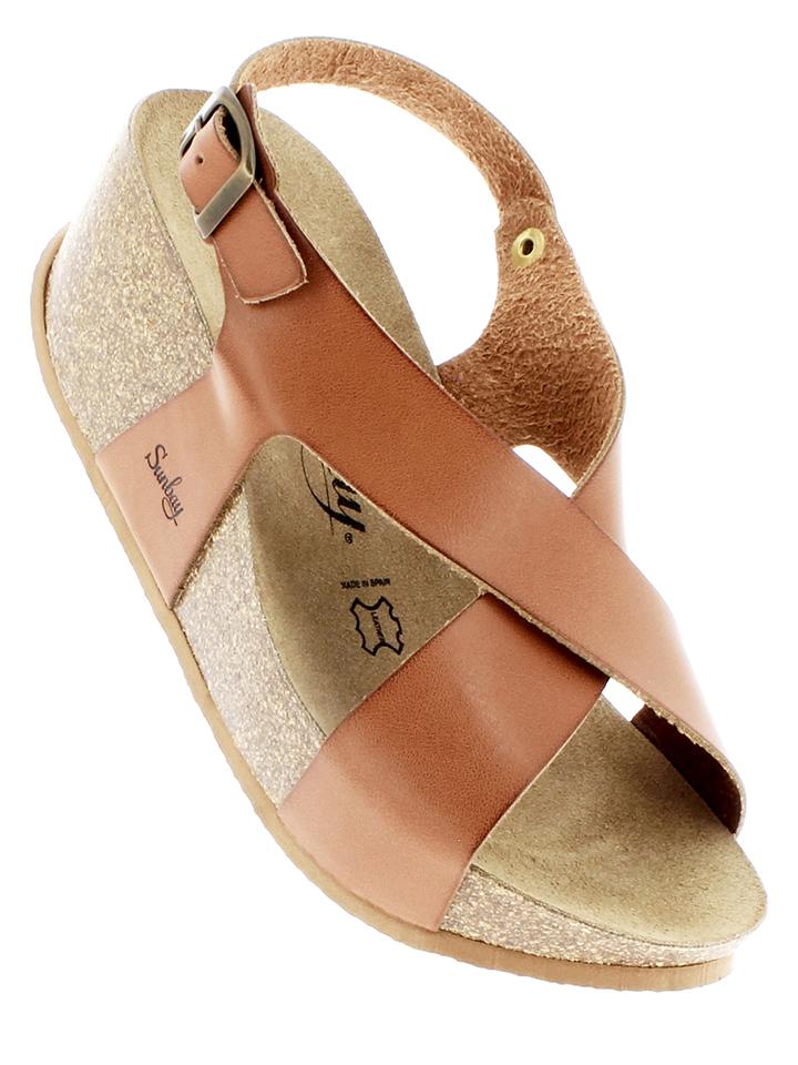 Sunbay Leder-Sandaletten in Camel - 63 Größe 37 Damen sandalen