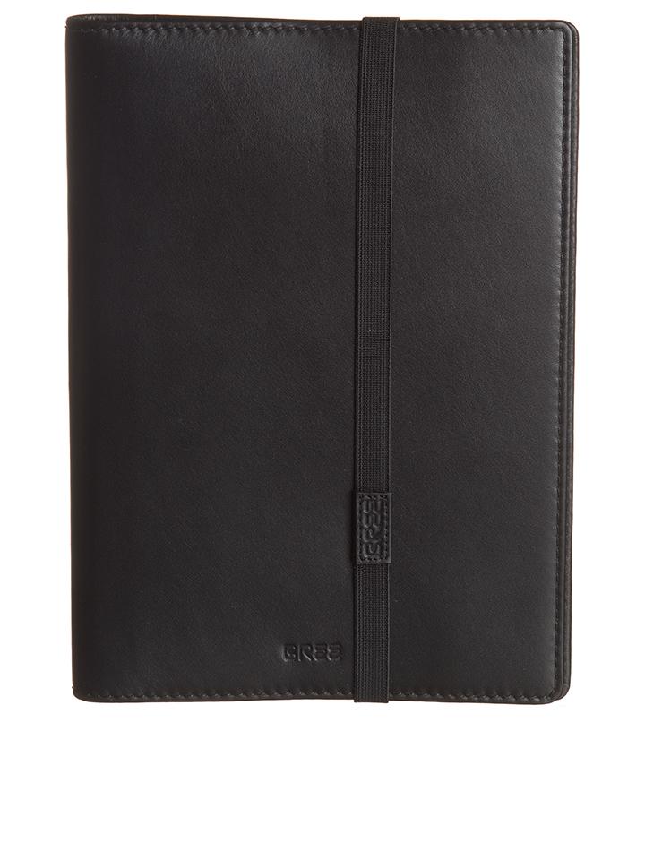 Bree Leder-Umschlag ´´Boston 220´´ in Schwarz - (B)18 x (H)24 (T)2 cm -49% | Bürozubehör Sale Angebote Wiesengrund