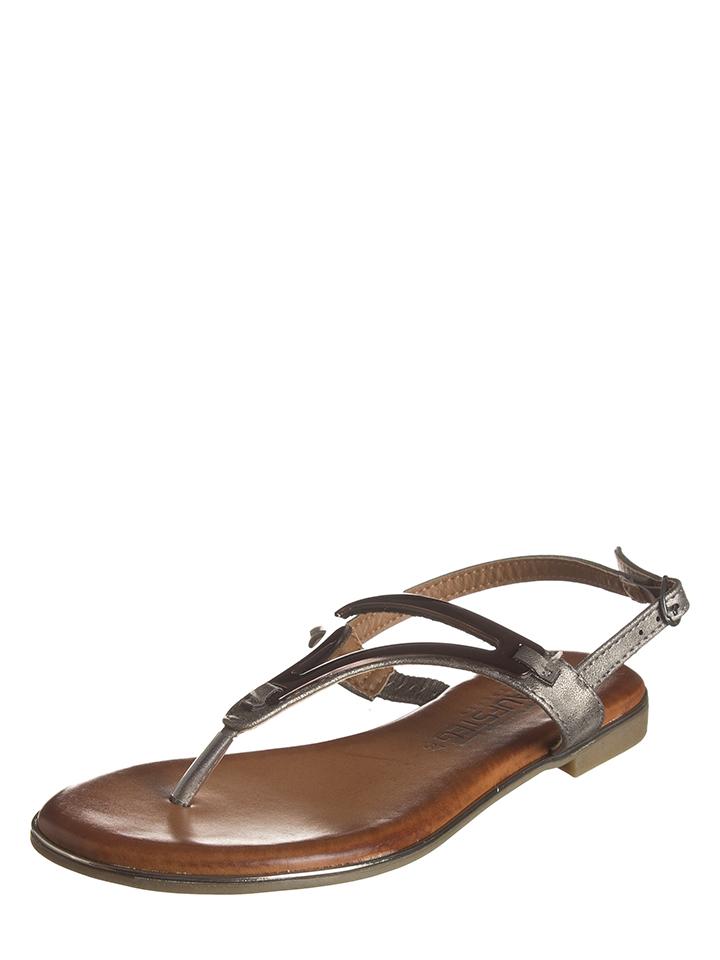 Laufsteg Zehentrenner in Anthrazit - 59% | Größe 38 Damen sandalen