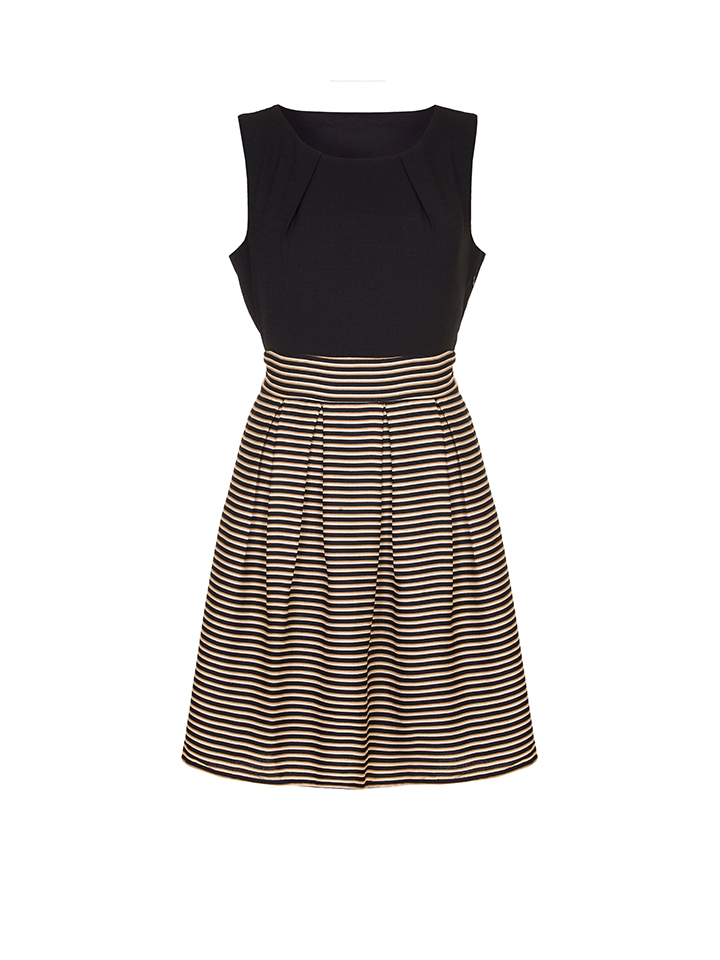 Iska Kleid in Schwarz/ Apricot -58% | Größe 42 Kleider Sale Angebote Hermsdorf