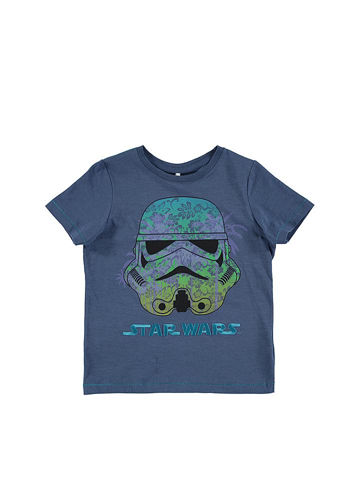 Name it Shirt ´´Star Wars´´ in dunkelblau -42%   Größe 122/128 T-Shirts Sale Angebote Schipkau
