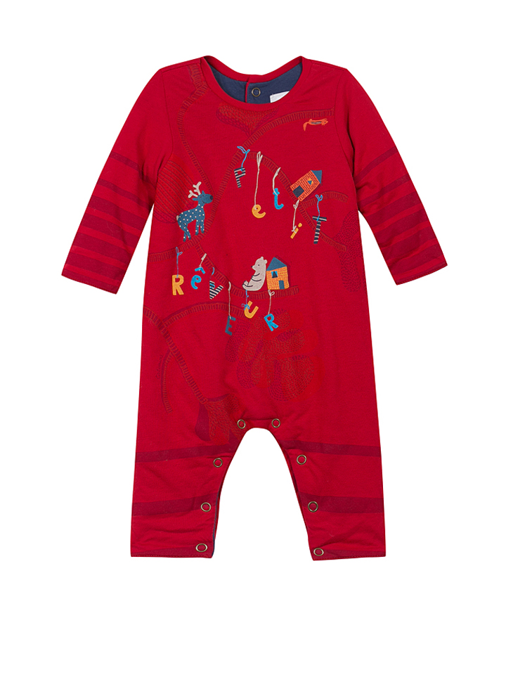 Catimini Overall in Rot - 48% | Größe 68 Babyoveralls