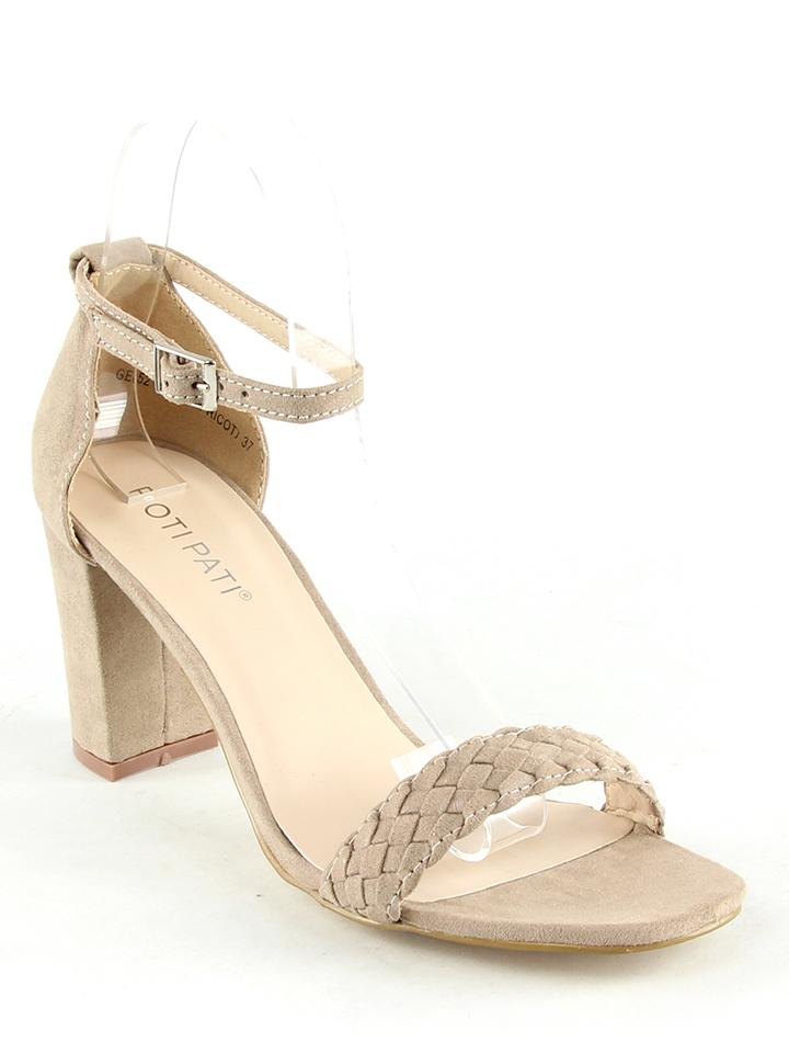 Poti Pati Sandaletten in beige -73% | Größe 39 | Hohe Sandaletten