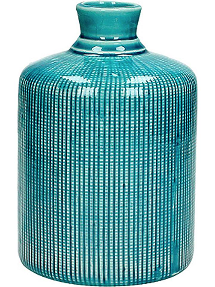 HF LIVING Vase in Petrol - (H)18 x Ø 12 cm -42% | Vasen Sale Angebote Terpe