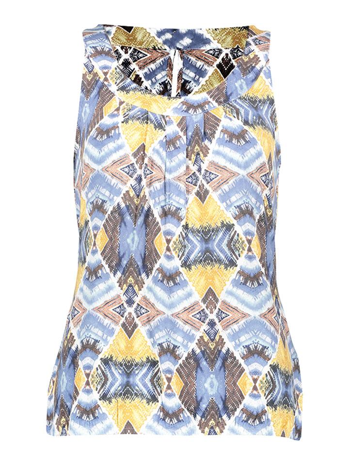 TAIFUN Shirt in blau -74% | Größe 46 Ärmellose Tops Sale Angebote Lieskau