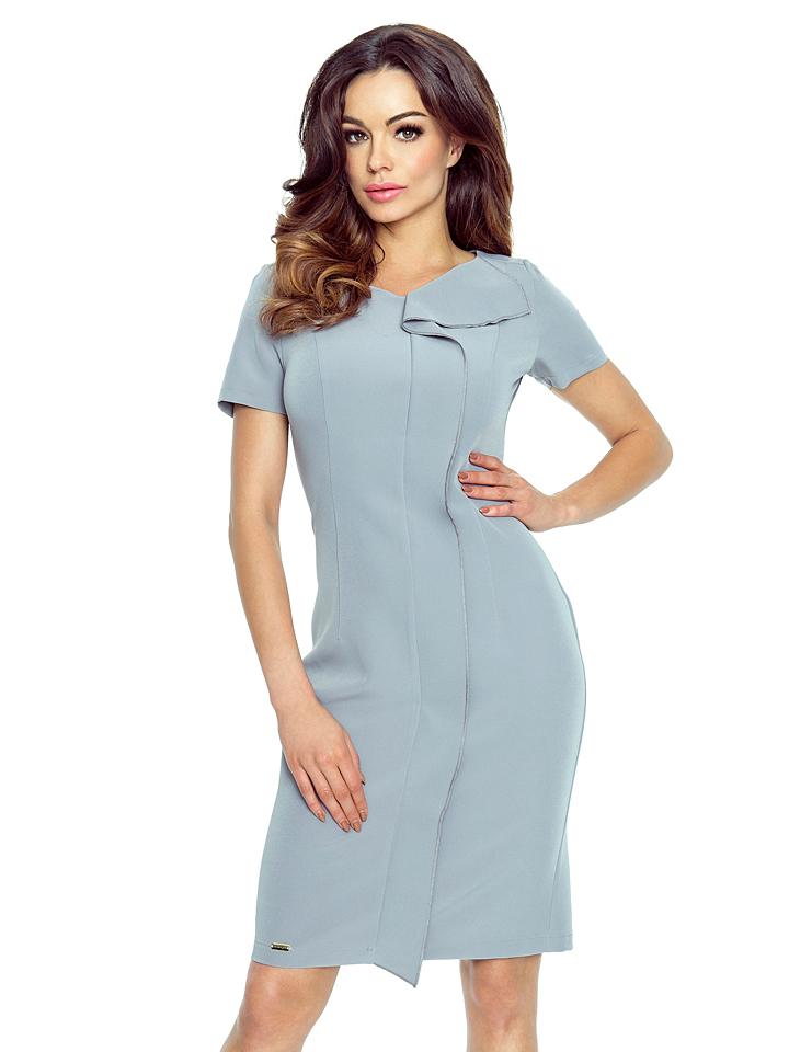 BERGAMO Kleid in Grau -61% | Größe L Kleider