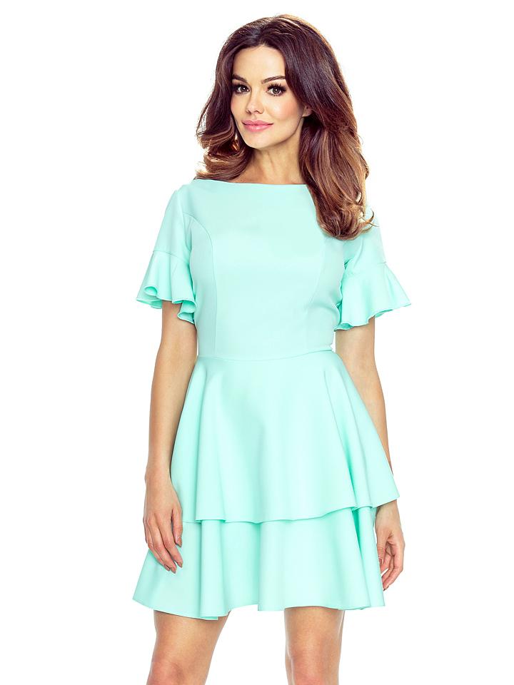 BERGAMO Kleid in Türkis - 77%   Größe XL Damen kleider jetztbilligerkaufen
