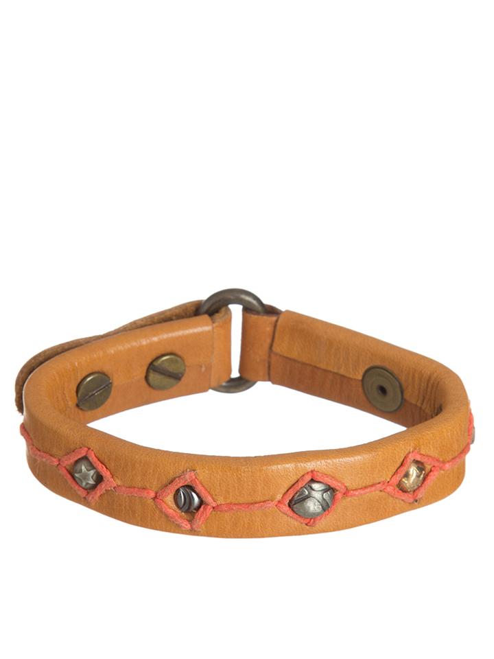 NOOSA Leder-Armband in Cognac -49%   Größe M Armketten Sale Angebote Schipkau