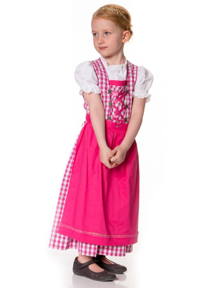 Isar-Trachten Dirndl in Pink - 56% | Größe 116 Kinder dirndl