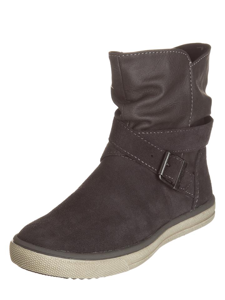 Lurchi Leder-Stiefel in Anthrazit -35% | Größe 32 Stiefel