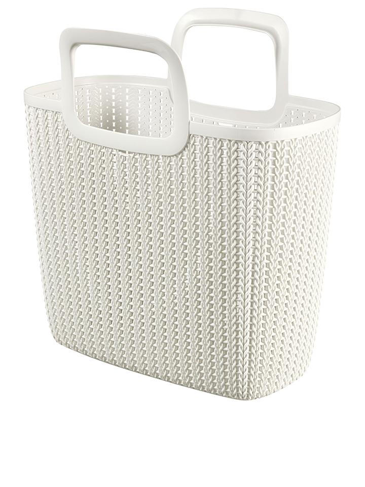 Curver Einkaufstasche ´´Knit´´ in Weiß - 25 l -...