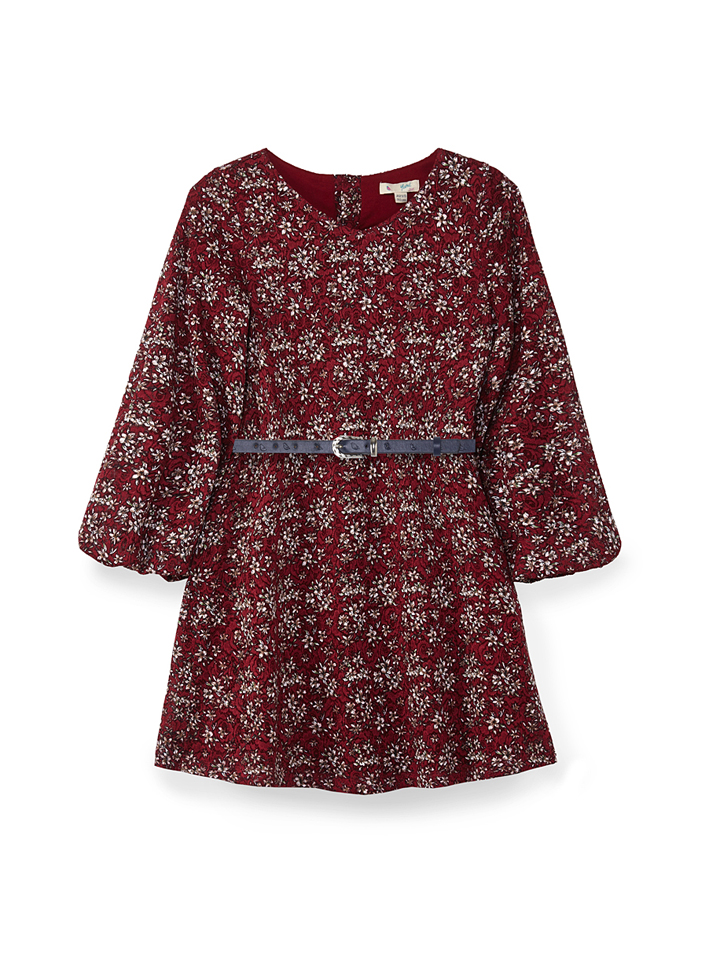 Ruhland Angebote Yumi Girl Kleid in Bordeaux - 66% | Größe 122/128 Kinderkleider
