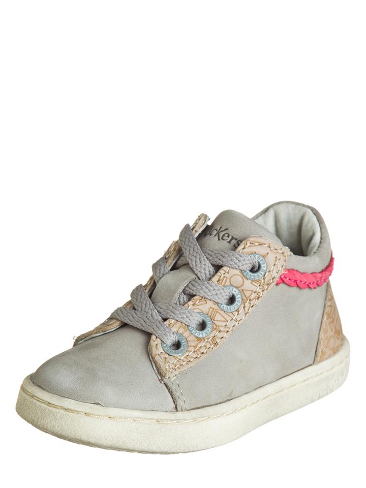 Kickers Leder-Sneaker ´´Lylou´´ in Grau - 37% | Größe 24 Babysneakers