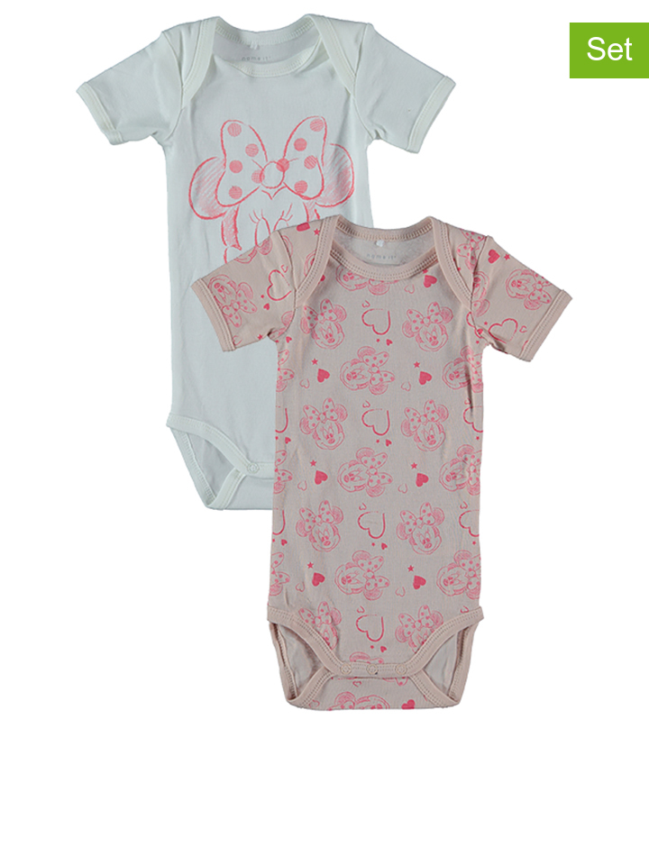 Name it 2er-Set: Bodys ´´Minnie´´ in Rosa - 20% | Größe 98 Baby bodys