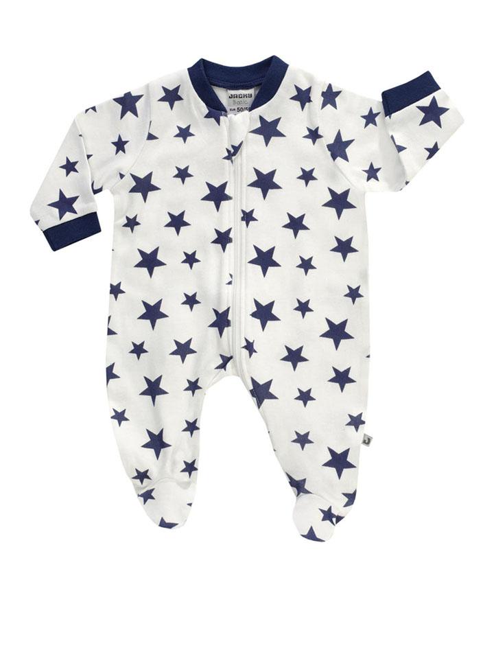 Jacky Schlafanzug ´´Cloud Star´´ in Weiß Dunkelblau - 26 Größe 86 92 Baby waesche