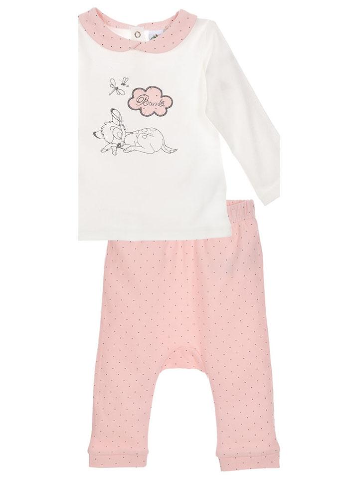Bambi 2tlg. Outfit: Longsleeve und Hose ´´Bambi´´ in Rosa - 50% | Größe 92 Kinder oberteile