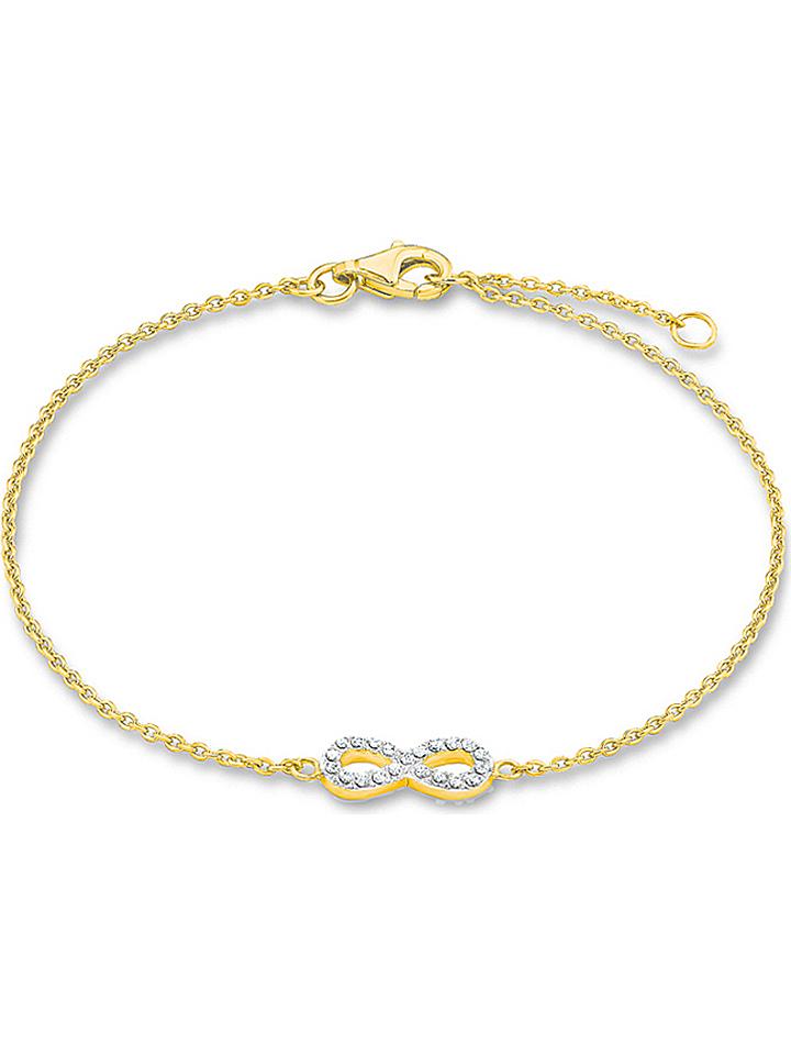 S. Oliver Vergold. Silber-Armkette mit Zirkonia...