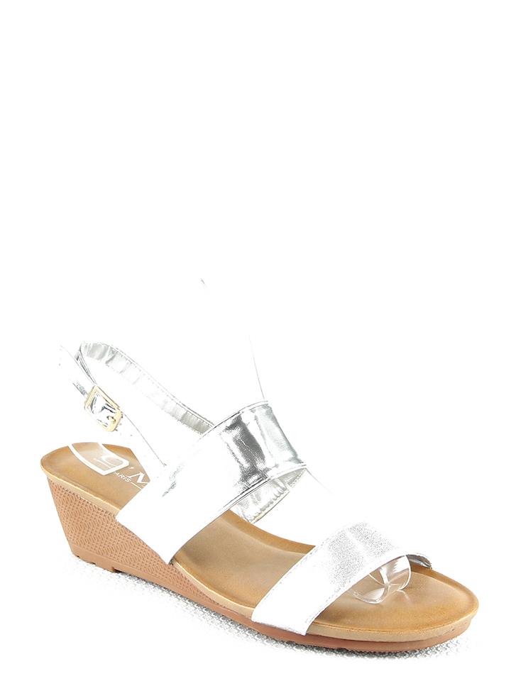 C´M Keilsandaletten in Silber - 59%   Größe 37   Damen sandalen